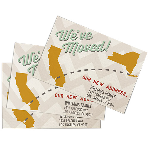 Carte de d m nagement changement d 39 adresse helloprint - Adresse bureau de change ...