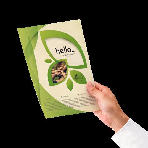 Milieuvriendelijke flyers. Bedrukt bij Helloprint