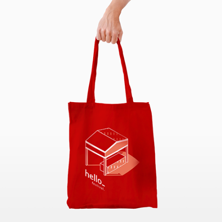 Unique long handle cotton bags with your own design and logo. Easy order at Helloprint at the best price