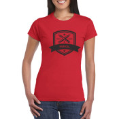 Shortsleeve woman woman red