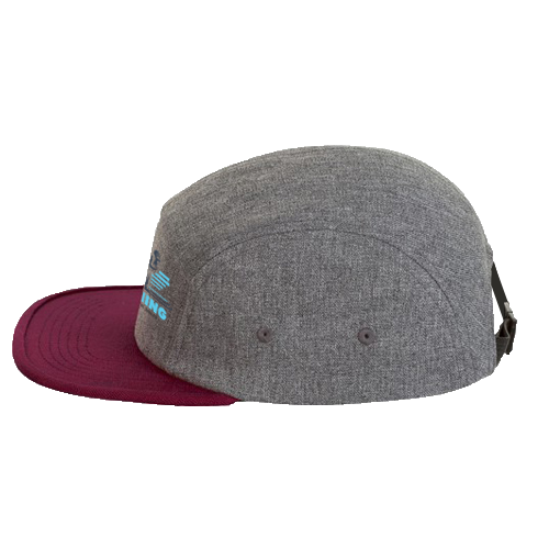 Two colour 5-panel cap