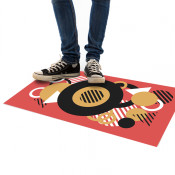Get the attention of your customers with the floorstickers in your store