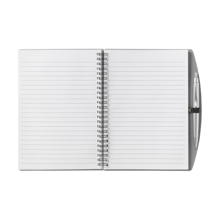 Cheap and useful A5 notebook with pen from Helloprint. Learn more about our print products and order print online.