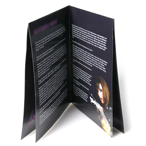 French fold leaflets