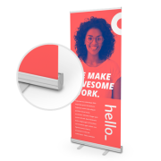 Standaard roll-up banners