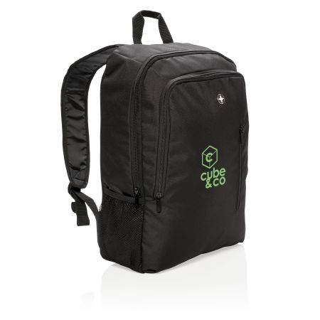 Customisable Business Backpack with Example of Front Logo Display, available at Helloprint.