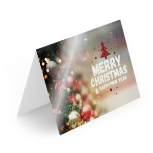 Glossy Christmas cards personalisation