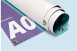 A rolled up A0 sized banner available at Helloprint with customised printing options for a cheap price