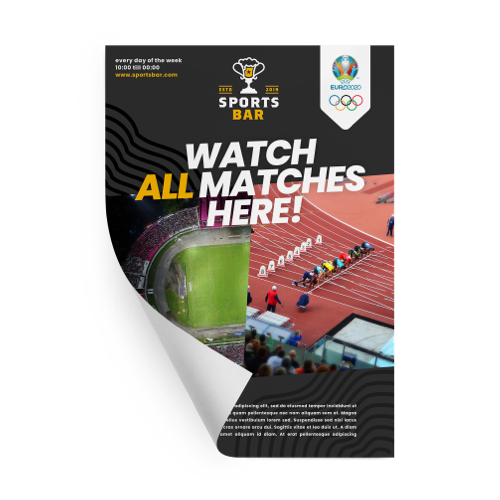 Printed posters for Sports events by Helloprint