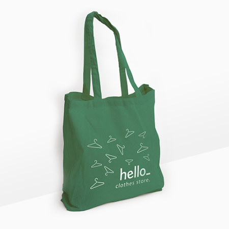 Cotton bag with long handles. Buy them now at iDrukker.nl and find out more about our printed products.