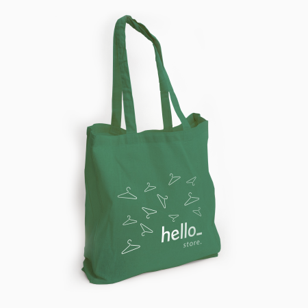 Cotton bag with long handles. Buy them now at Helloprint and find out more about our printed products.