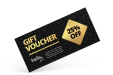 Vouchers with exclusive finishes, available at DRUKWERKTIJGER.NL