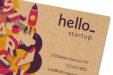 Environmentally-friendly business cards, available at Helloprint