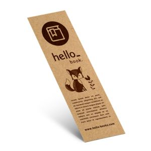 Eco Friendly Bookmarks with 100% recycled paper from Drukzo