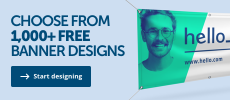 Design you own banners at Helloprint with more than 1,000 free banner designs.