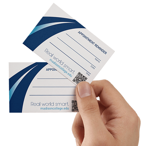 Appointment card printing helloprint appointment cards printing appointment reheart Choice Image
