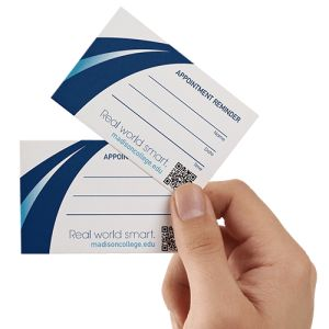 Appointment cards with logo