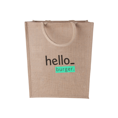 Custom Premium Jute Bag with a Logo Display Option, available at Helloprint