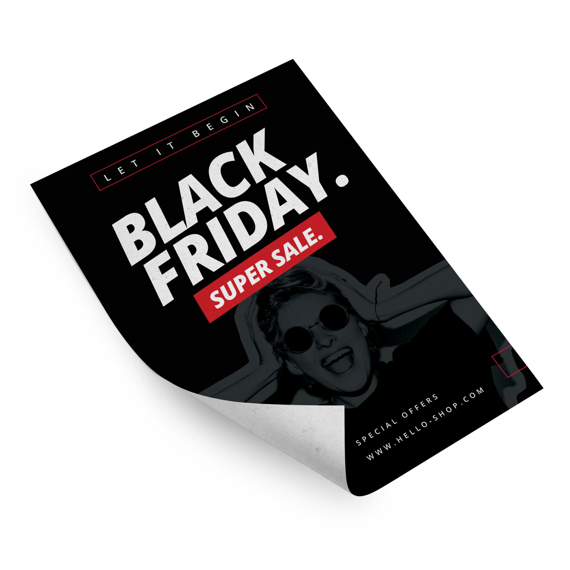 Flyers drukken voor Black Friday