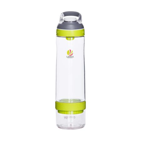 A yellow Contigo Cortland infuser water bottle available with custom printing options for a cheap price at Helloprint