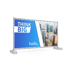 Construction Fence Banners personalisation