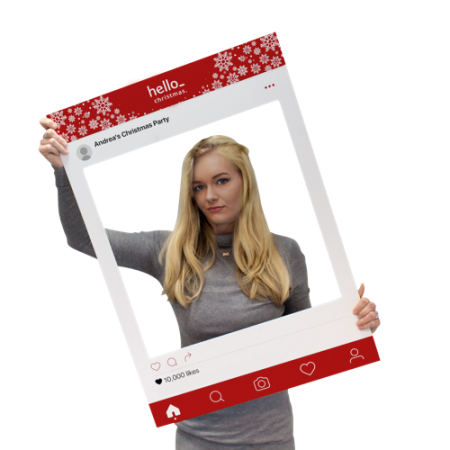 Instagram selfie frame which can be personalised at Helloprint. Ideal for events and parties.