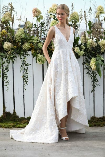 11 floral wedding dresses for the botanical loving bride weddingwire jenny yoo fall 2018 collection junglespirit Images