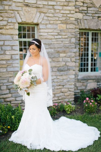 Every wedding veil style length explained weddingwire ballet length veil junglespirit Images
