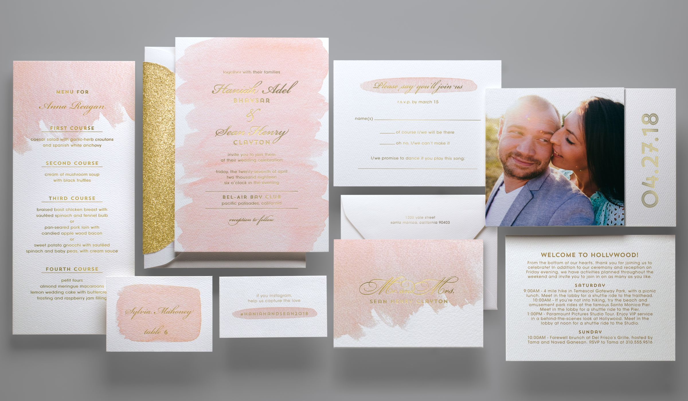 The wedding invitation trends 2018 couples must see weddingwire monicamarmolfo Choice Image
