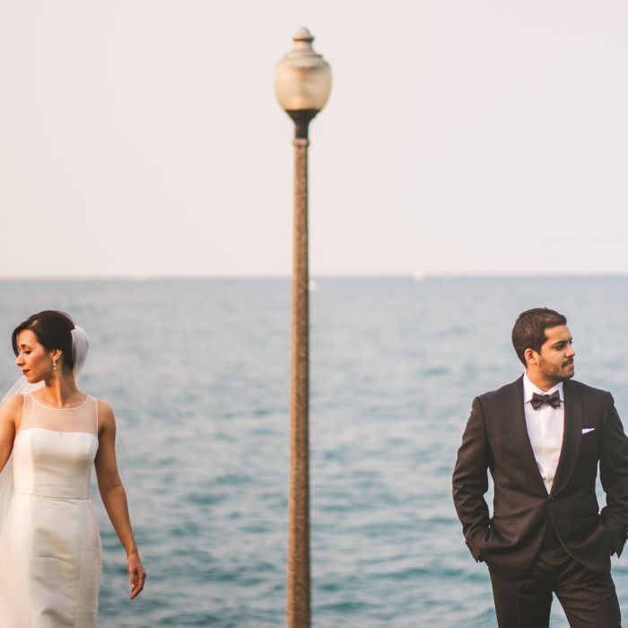 Couple Standing Side By With Ocean Backdrop Photography How To Find A Wedding Photographer