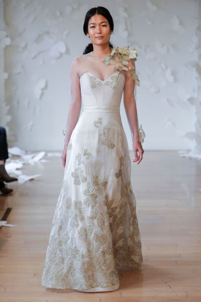 11 floral wedding dresses for the botanical loving bride weddingwire carol hannah fall 2018 wedding dresses junglespirit Images