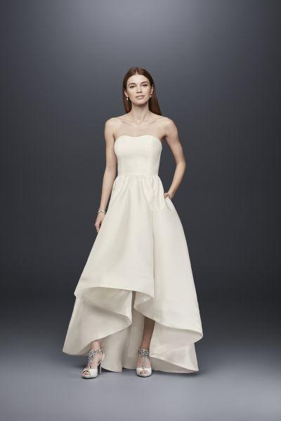 23 wedding dresses under 3 000 weddingwire for High low wedding dress davids bridal