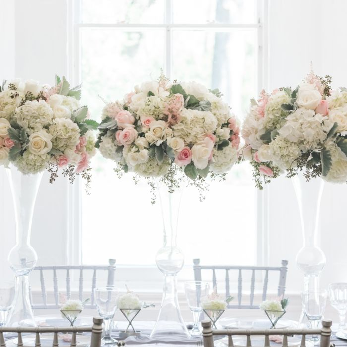 How To Choose Your Wedding Flowers Formal Pink And White Centerpieces