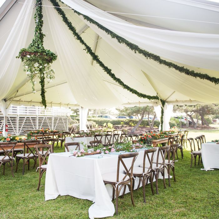 Tented Wedding Reception With Long Tables Ideas