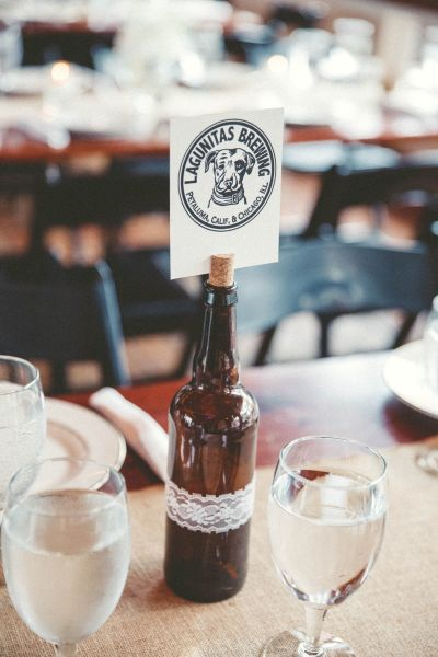 beer bottle table numbers - lightbloom photography