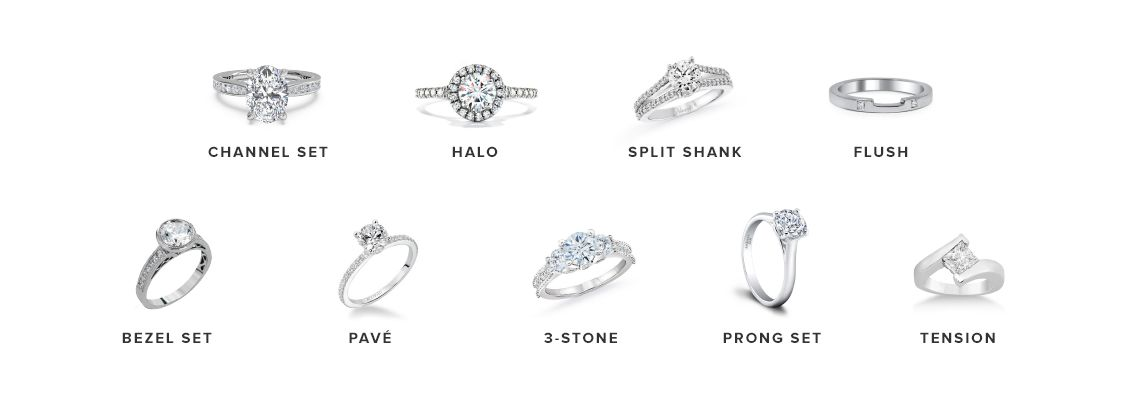 split shank - Types Of Wedding Rings