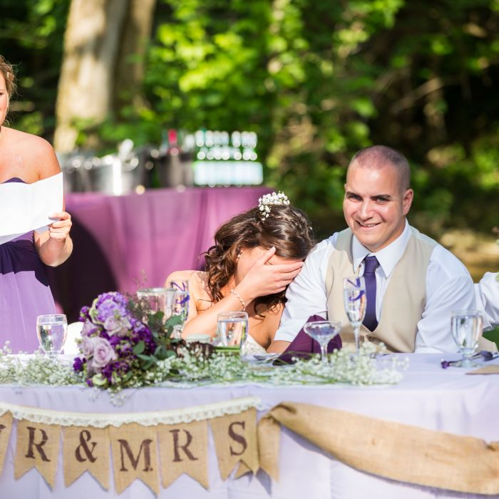Maid Of Honor Speech Bride Covering Face