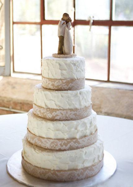 10 years of wedding cake trends 2007 2017 weddingwire rustic wedding cake junglespirit Image collections