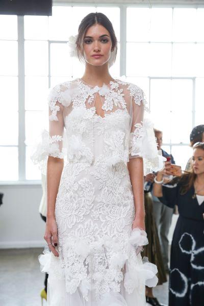 11 floral wedding dresses for the botanical loving bride weddingwire marchesa fall 2018 wedding dresses junglespirit Images