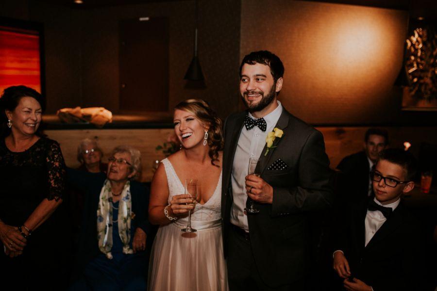 Couple Toasting During Wedding Reception