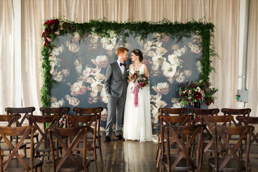An Indoor Rustic Ceremony: 20 Unique Indoor Wedding Ceremony Backdrop Ideas