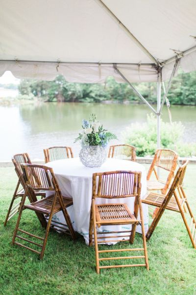 Rattan Chairs For Summer Wedding Reception