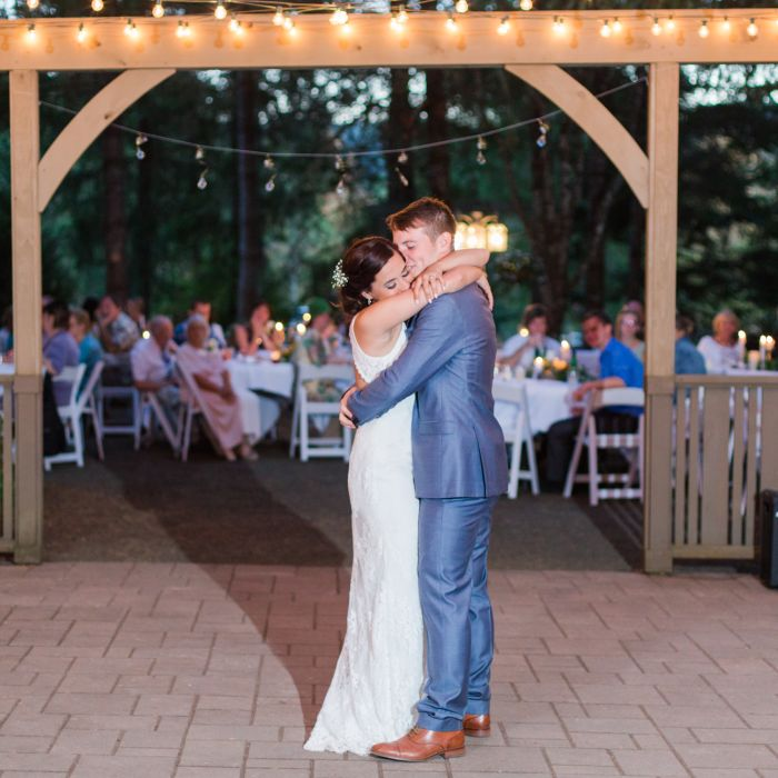 Couple Performing First Dance Song