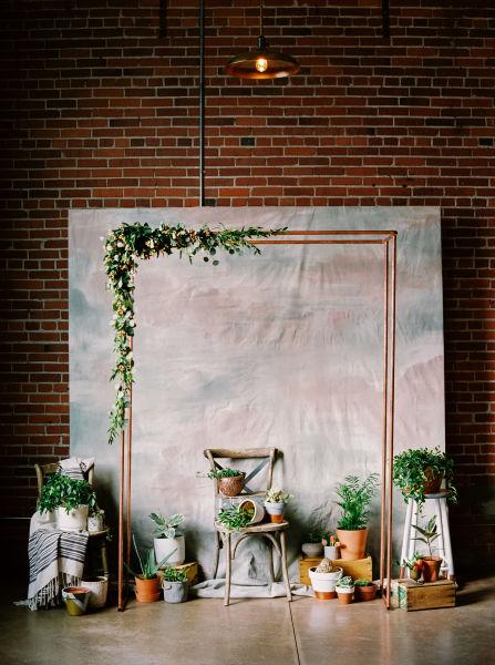 20 unique indoor wedding ceremony backdrop ideas weddingwire watercolor ceremony backdrop junglespirit Image collections