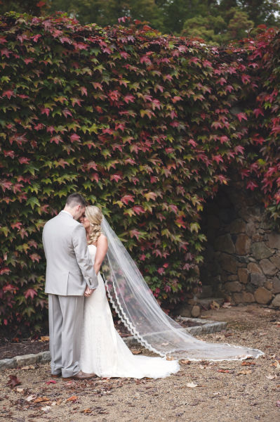 Every wedding veil style length explained weddingwire cathedral length veil junglespirit Images