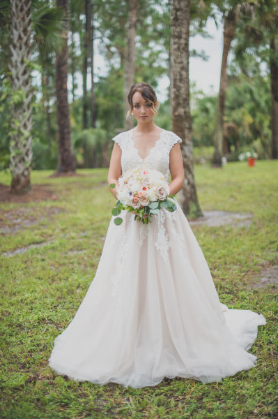 Blush Lace Ball Gown