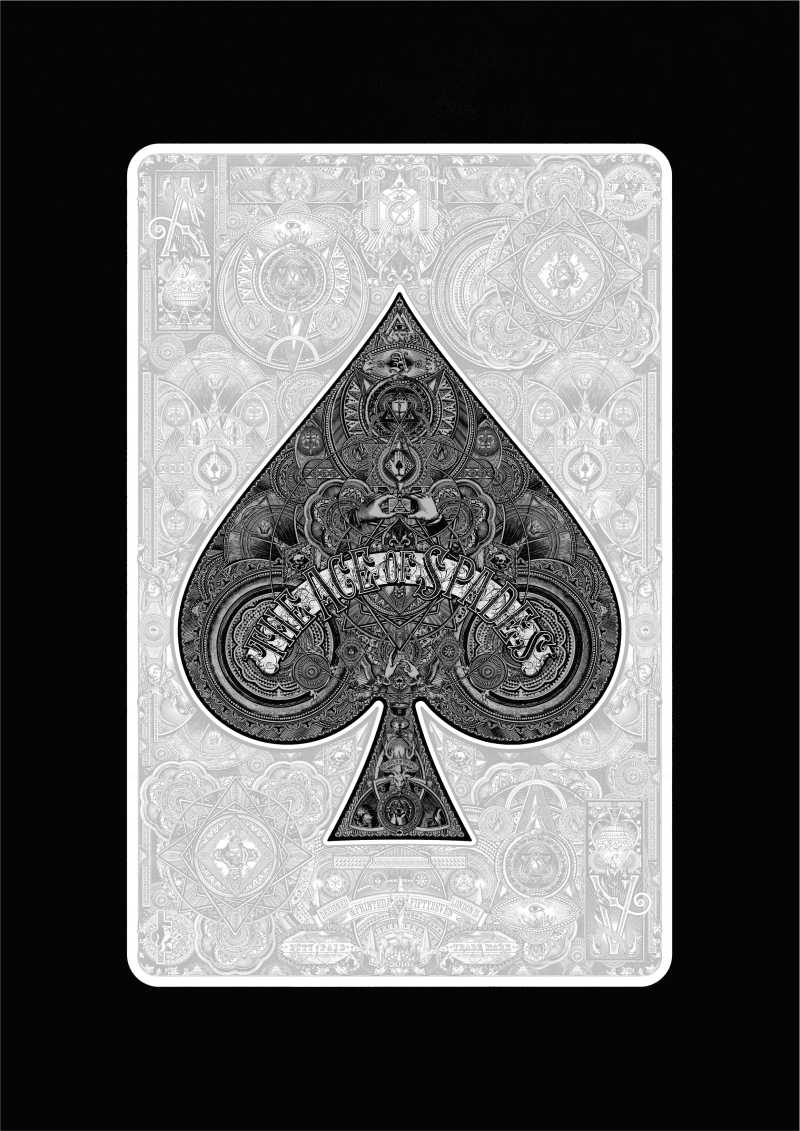 Fiftyseven/ Steve Mitchell, Ace of Spades II, Screen print. Edition of 100, 50x70cm, £100, 2016