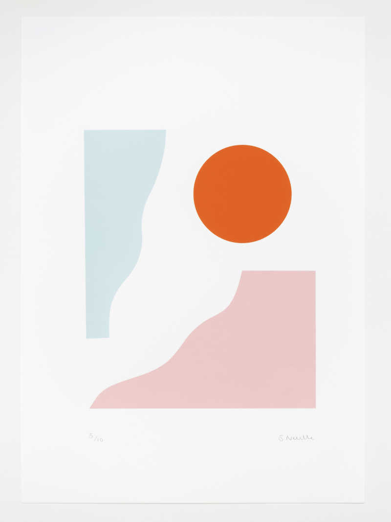 Seraphina Neville, Mesa, 3 colour screen print, Edition of 10,  297 x 420mm, Unframed: £85, 2020
