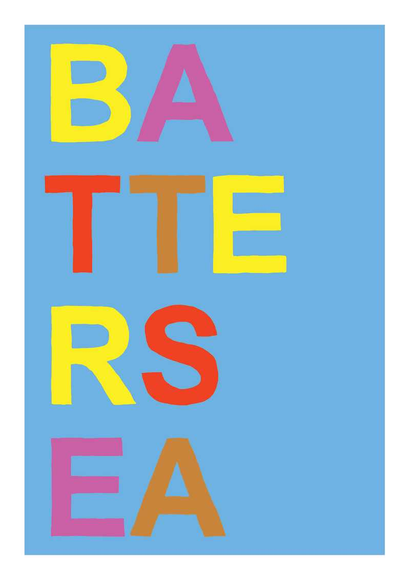 Oli Fowler, Battersea, Screen print, Edition of 50, 50x70cm, Framed: £240, Unframed: £120, 2019