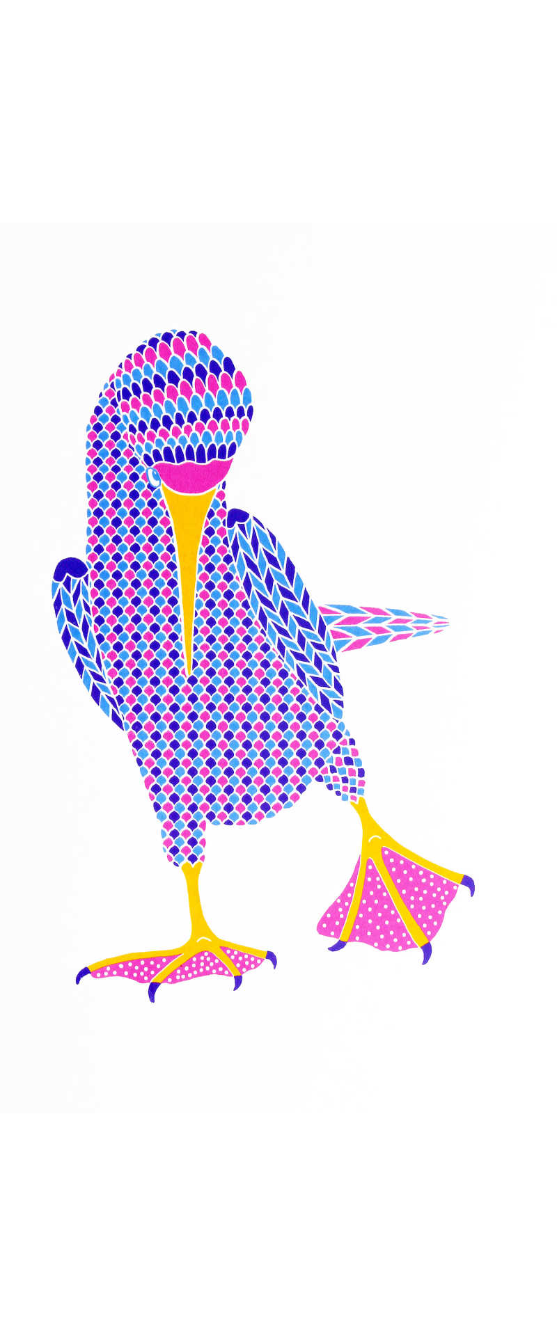 Liz Whiteman Smith, Shy pink booby, Screen print, Edition of 50, 30x40cm, Unframed: £80, 2019